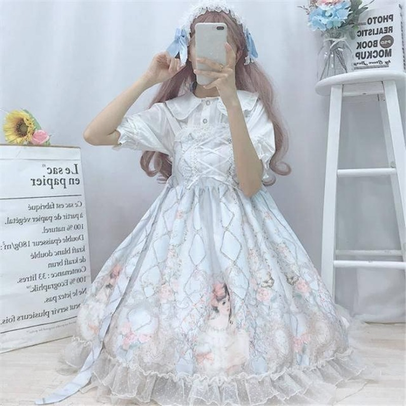 Sweet Lolita Dress Women Lace Maid Costume Dress Cute Japanese Costume Kawaii Gothic Party Robe Renaissance Vestido Cosplay 2020 Aliexpress