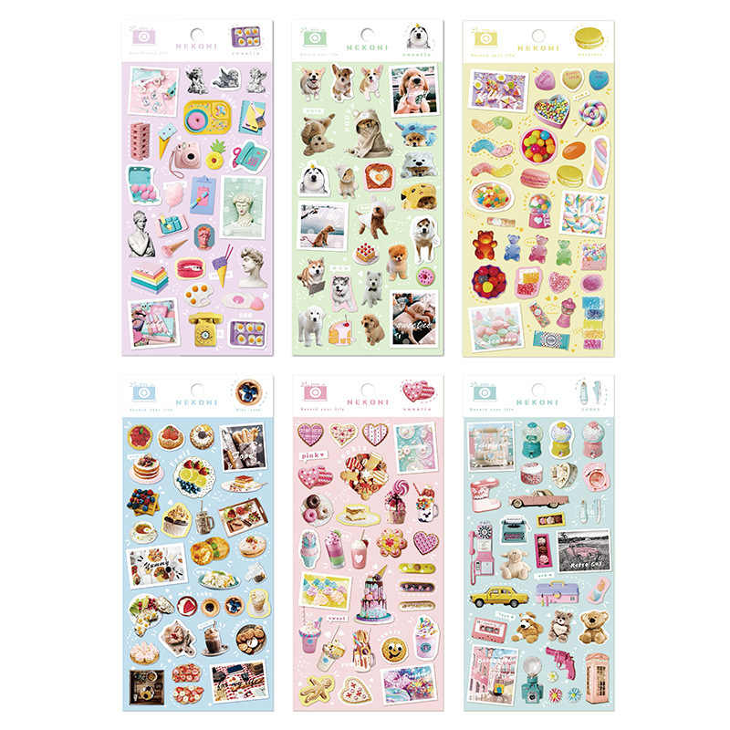 Kawaii Ijs Snoep Teddybeer Nekoni Decoratieve Briefpapier Stickers Scrapbooking Diy Dagboek Album Stok Etiket