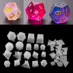 19 Shapes Irregular Dice Epoxy Resin Molds Dice Dried Flower Resin Molds Silicone Mould Making DIY For Multi-spec Digital Game