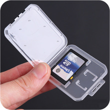 Buy SD Card / TF Memory Card Storage Protection Box Camera Small White Box High-grade Plastic Transparent Card Cases directly from merchant!