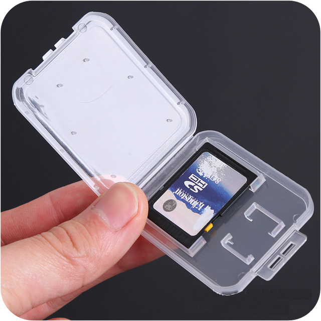 SD Card / TF Memory Card Storage Protection Box Camera Small White Box High grade Plastic Transparent Card Cases