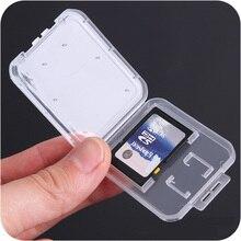 Sd karte/TF Speicher Karte Lagerung Schutz Box Kamera Kleine Weiße Box High grade Kunststoff Transparent Karte Fällen