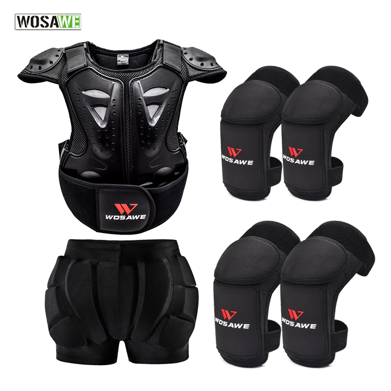 WOSAWE Kids Chest Protector Dirt Bike Body Armor Motorcycle Cycling Spine Protective Vest