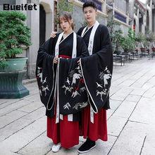 Casais hanfu vestido chinês antigo traje de dança tang terno hanfu robe han dinastia tradicional clássico espadachim dancewear