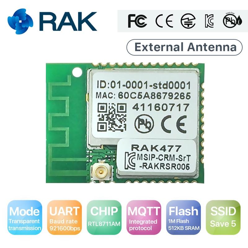 Wireless IoT Module RAK477 Low Power Tiny Size UART Serial To WIFI Industrial Module Tcp Ip MQTT RTL8711AM Chip, 5 SSID Q111