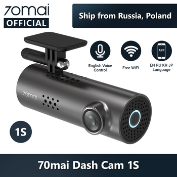 70mai Car DVR 1S APP & English Voice Control 70mai 1S 1080P HD Night Vision 70 MAI 1S Car Camera Recorder WiFi 70mai Dash Cam 1S