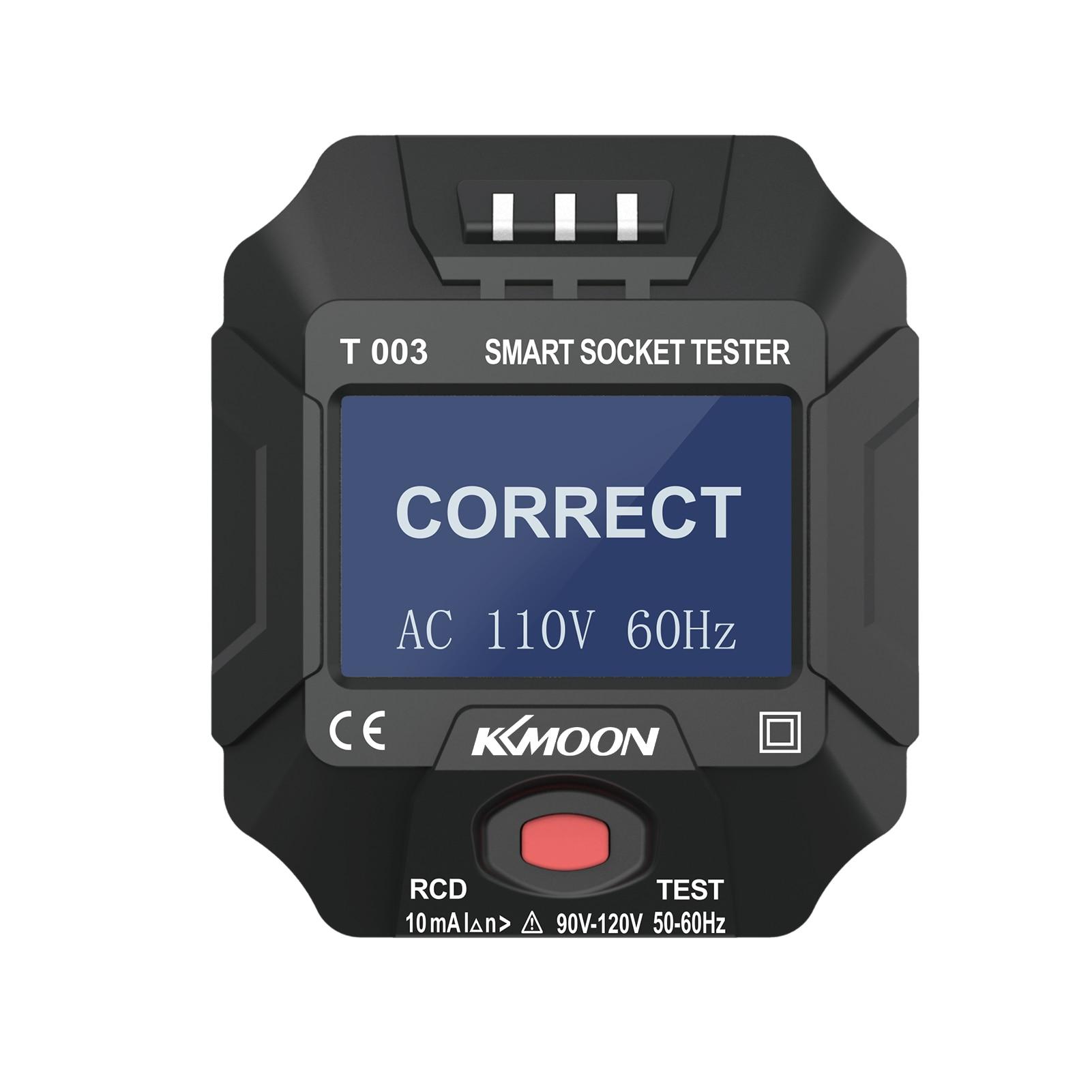 220 ~ 250 В тестер розетки, умный тестер розетки, цифровой ЖК-дисплей, детектор полярности цепи, выключатель, детектор утечки