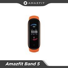 Amazfit – bracelet Band 5 Version globale, rappel multilingue des dossiers de santé des femmes, résistance à l'eau 5atm, nouveauté 2020