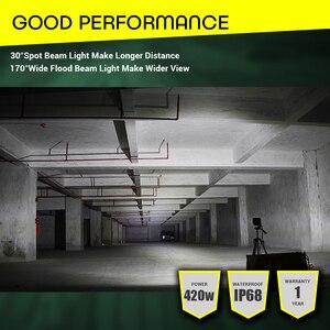 Image 5 - 60 480W Light Bar Off Road 4x4 12V 24V Car Accessories 4 23inch LED Work Light Bar Combo Beam Driving Lamp ATV SUV UTV Trucks