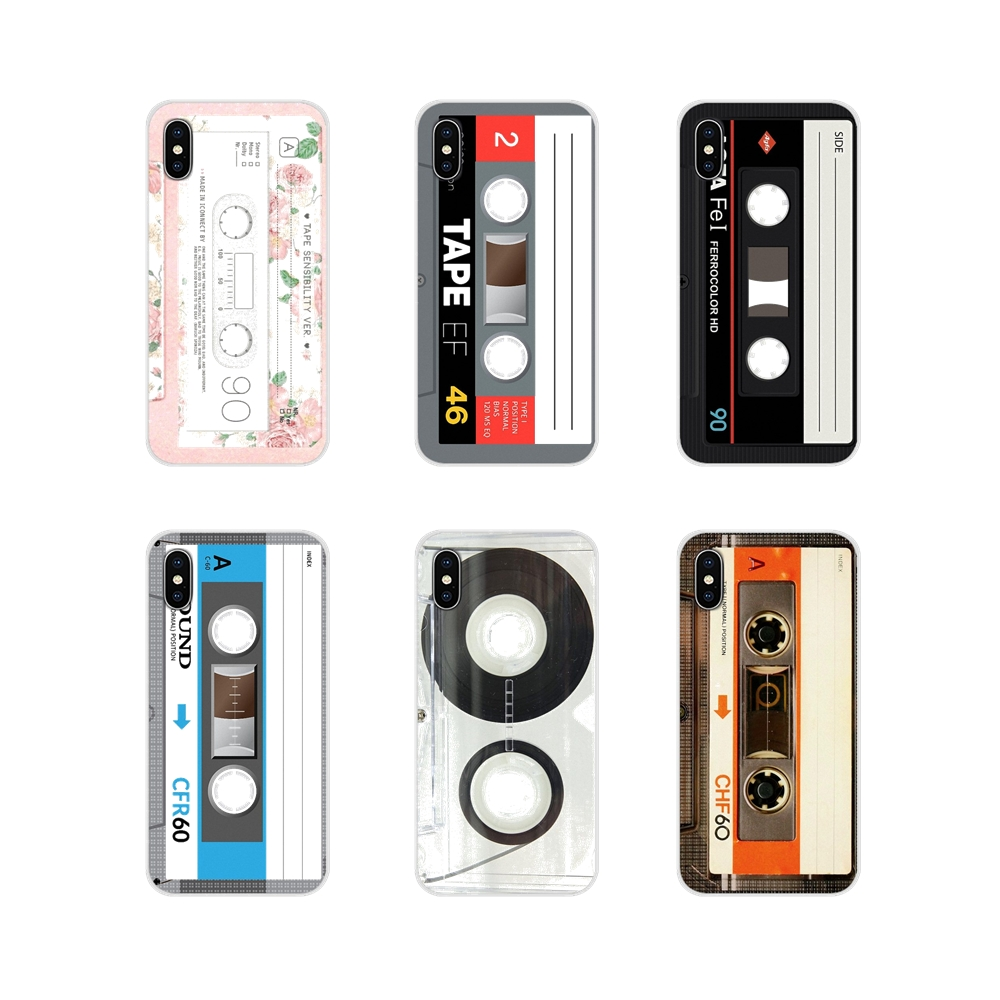 For Apple iPhone X XR XS 11Pro MAX 4S 5S 5C SE 6S 7 8 Plus ipod touch 5 6 Accessories Phone Cases Covers Vintage Tape Cassette