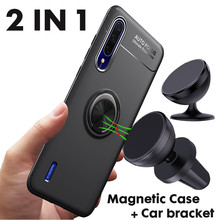 Magnetic Car Phone Holder+Magnetic Ring Holder Stand Case for Xiaomi mi A3 Soft Silicone Cover A2 Lite