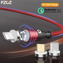 PZOZ Magnetic Micro USB Cable Magnetic USB Type C For iphone 11 pro xiaomi Fast Charging usb c cable Magnet Charger type c cable elough magnetic charging usb cable for iphone charger micro usb cable type c led usb magnetic cable usb c for xiaomi charger