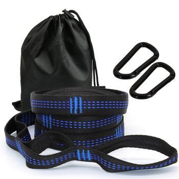 2Pcs 300cm Hammock strap Outdoor camping Hammock Swing Straps rope high strength load-bearing strap hammock rope