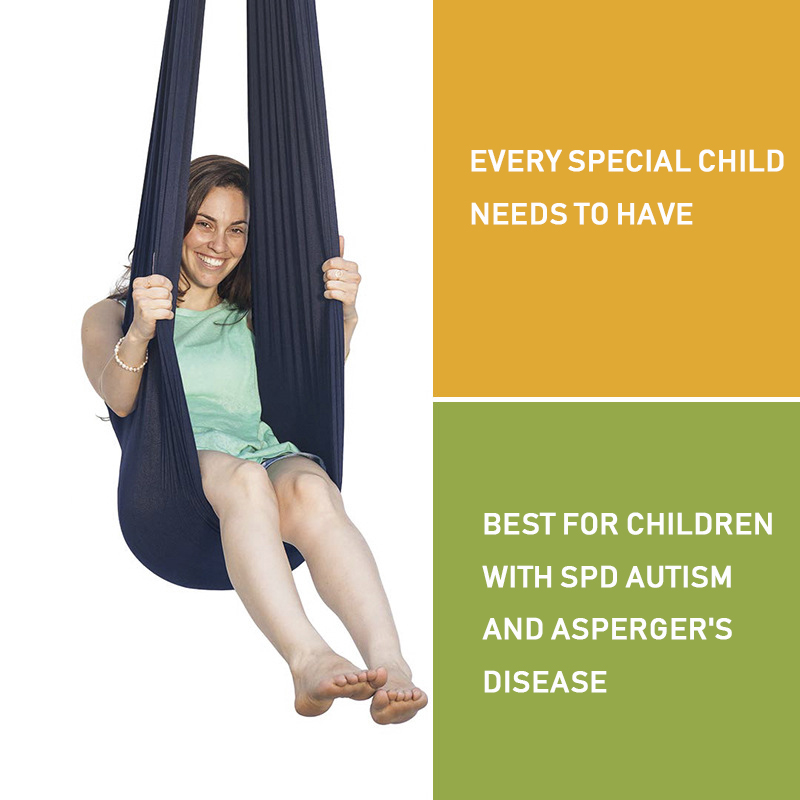 150*280CM Kids Swing Toy Set Therapy Hammock Hanging Chair Home Room Indoor Games Sensory Toys for Autism kids