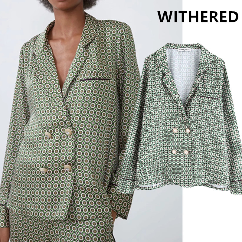 Withered England Vintage Print Home Jewelry Buttons Shirt Women Blusas Mujer De Moda 2019 Shirt Womens Tops And Blouse Plus Size