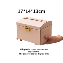 Environmental protection leather three layer partition design drawer earrings jewelry necklace storage box friendship gift