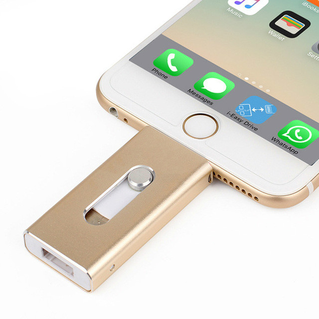 Usb Flash Drive For IPhone 6 6S 6Plus 7 7S 7P 8 8Plus X IPad Lightning USB Memory Stick 128GB Pendrive For IOS External Storage