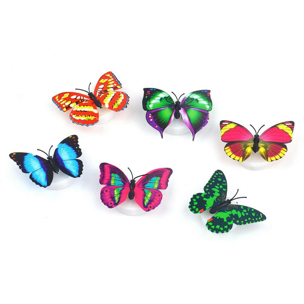 2019 Colorful Butterfly Wall Stickers Easy Installation LED Night Light For Kids Child Bedroom Home Decor Random Color