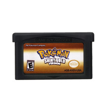 Для Nintendo GBA видеоигры картридж консоль карта Poke серия Блестящий Золотой английский язык версия США