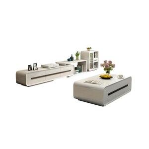 Minimalistyczny projektant panel drewniany stojak na tv nowoczesne tv do salonu podstawa monitora mueble szafka pod telewizor + kawy cetro stół + szafka