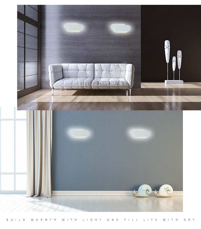 Hc7b418b2999d423783d2d49381003a88A - 12W LED Wall Sconces Lighting Interior Wall Lamp Contemporary Mounted Lamp With Aluminum Shell for Indoor Bedroom Hot Light