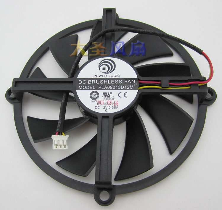 Original PLA09215D12M DC 12V 0.35A Ball Bearing 100mm HD5850/5870/5830 Graphics Card Cooling Fan