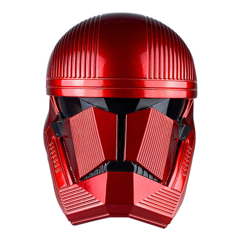 Star wars 9 a ascensão de skywalker sith trooper capacete vermelho cosplay halloween party men adulto star wars pvc capacetes máscara prop
