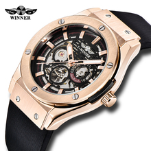 New Style WINNER Military Mens Automatic Watches Skeleton Di