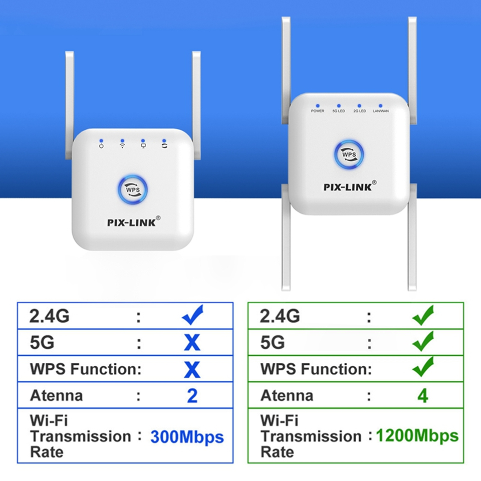 5G Wifi Repeater Wifi Extender 5ghz Wifi Amplifier 5 ghz Wireless Repeater Router Wi fi Booster 2.4G 5G Wi-Fi Signal Extender 2
