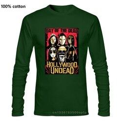 Officiel Hollywood morts-vivants DOTD visages T-Shirt cygne chansons V bande de tragédie américaine à manches longues col rond T-Shirt Promotion