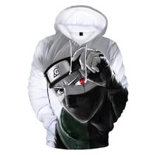 Pullover Anime Hoodie Naruto Kakashi Sweatshirts Men Cosplay Fashion Casual Women 3d Print