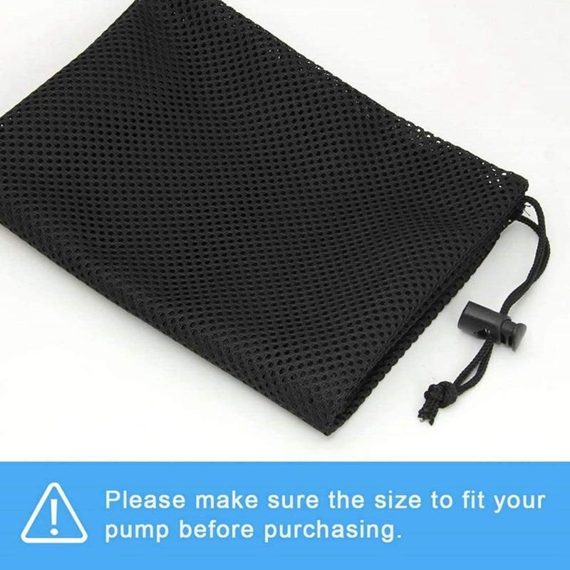 Bolsa de barrera de bomba 12.2 x 15.9 con bolsa de filtro de bomba de malla de estanque con cord/ón para biofiltros de estanque Filtraci/ón de acuarios y piscina al aire libre Bolsas de medios negras