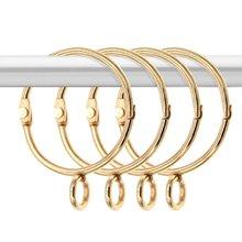 30 шт открытые золотые кольца для занавесок металлические нержавеющие