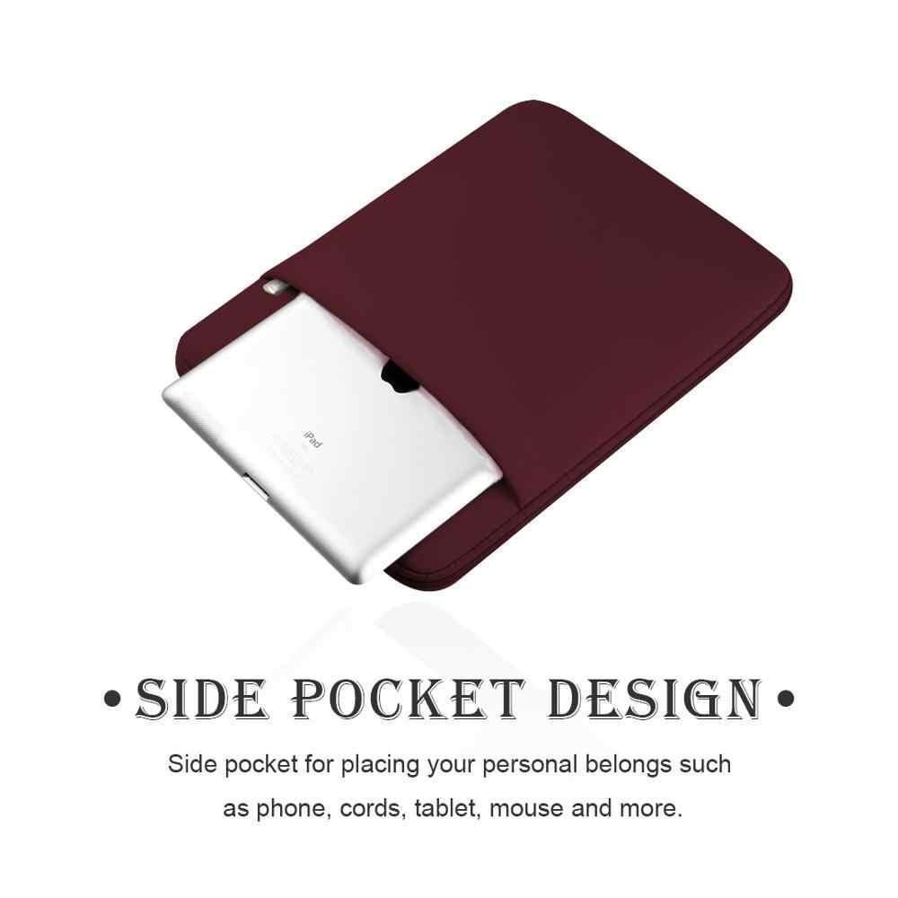 """Yicana ラップトップスリーブ 11 """"12 13 14 15 15.6 インチノートブックケースソフトの Macbook Air Pro の網膜タブレットポケット"""