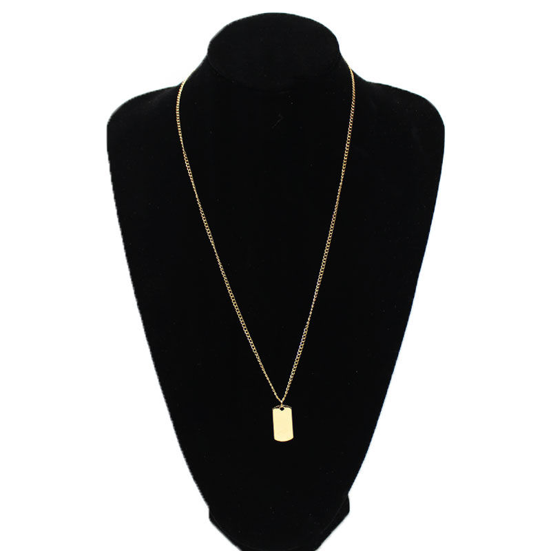 Simple New Pendant Long Chain Necklace Women Gold Silver Trendy Statement Jewelry
