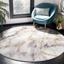 Скандинавский мраморный узор ковер гостиная 3D ковры диван спальня круглый коврик поворотный стул ковер кровать одеяло коврик
