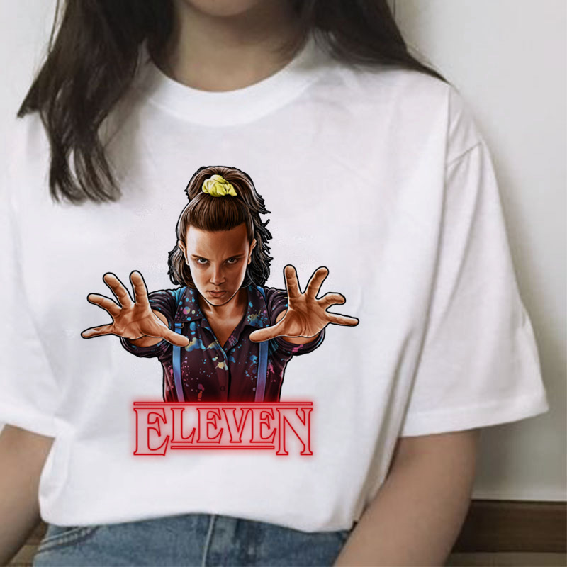 Stranger Things Season 3 T Shirt Women ELEVEN Harajuku New Tshirt Funny 90s Female Graphic T-shirt Ullzang Upside Down Top Tees