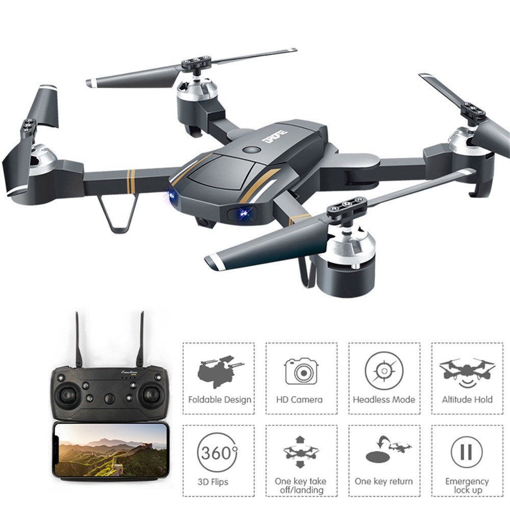 RC Helicopter Wiht HD Camera Mini Foldable Pocket Drone With Headless Mode RC Quadcopter Drone With High Hold Mode Gift For Kids-in RC Helicopters from Toys & Hobbies
