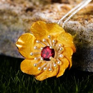 Image 5 - LotusสนุกBlooming Anemoneดอกไม้จี้สร้อยคอเงินแท้ 925 ทำด้วยมือเครื่องประดับสำหรับผู้หญิง