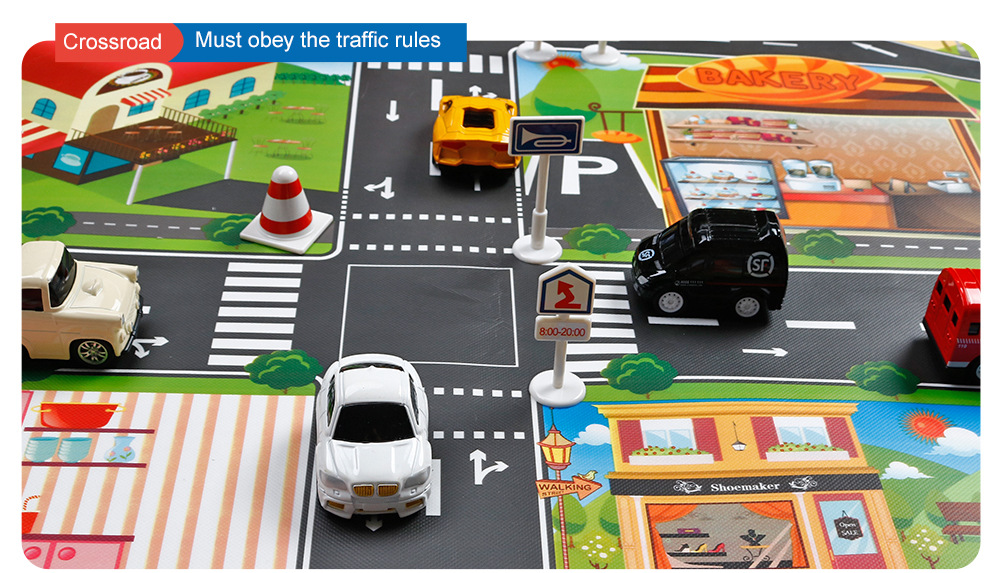 Hc7b51ba5519044d88962e766d56095d8v Large City Traffic Car Park Mat Play Kids Rug Developing Baby Crawling Mat Play Game Mat Toys Children Mat Playmat Puzzles GYH