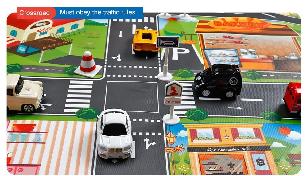 Hc7b51ba5519044d88962e766d56095d8v Large City Traffic Car Park Mat Play Kids Rug Developing Baby Crawling Mat Play Game Mat Toys Children Mat Playmat Puzzles GYH