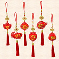 Красные китайские новогодние кулоны для дома, новогодние украшения для дома, украшения для весеннего фестиваля, вечерние товары