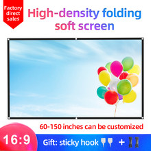 MIXITO 16:9 Hight-density Portable Foldable Projection Screen 1080P 3d 4K HD Projector Movie Screen 60 72 84 92 100 120 150 inch