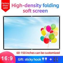MIXITO 16:9 Портативный складной проекционный экран высокой плотности 1080P 3d 4K HD проектор экран для фильма 100 120 150 дюймов