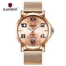 Kademan Топ Роскошные мужские часы модные золотые 3tam водонепроницаемые