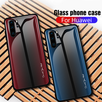 Tempered Glass Phone Case For Huawei P30 P20 Mate 20 Lite Pro P Smart Z Plus 2019 Honor 9X 20 Pro 10 Lite 8X 10i 20i Cover Cases diamond case for huawei p30 p20 pro lite cover for huawei mate 20 pro honor 10 20 8x 9x nova 3 5 4 e glitter ring holder cases