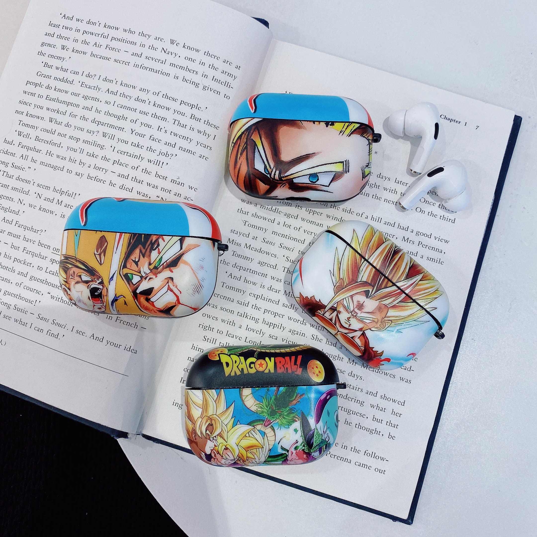 Japon animesi dragon topu kılıfları Apple Airpods için aksesuar koruyucu kapak darbeye tutucu AirPods için 1 2 şarj kutusu
