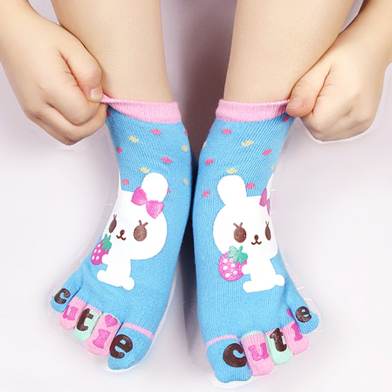 Girls Colourful Trainer Socks with Cute Bear Faces 5 Colours as 1 or 3 Pairs