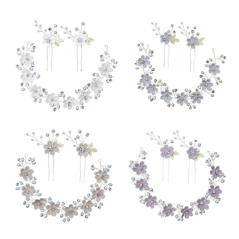3 шт./компл. повязка на голову для невесты, аксессуары для волос ручной работы для женщин и девочек