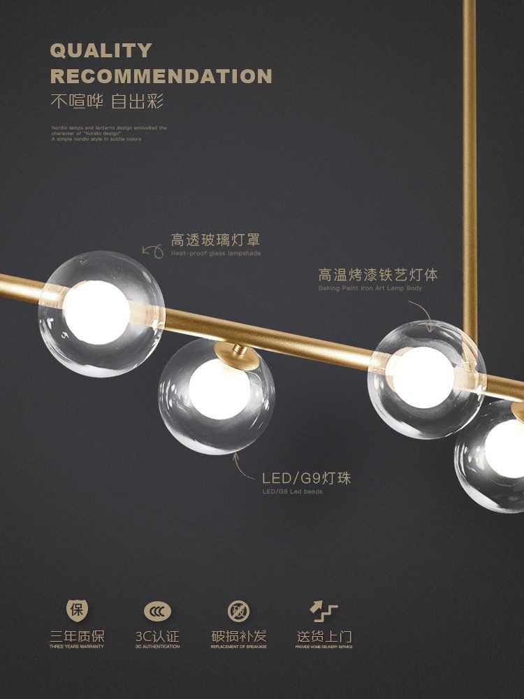 Nordic Einfache Schwarz/Gold LED Anhänger Lichter Eisen Glas Ball Hängen Lampe Esszimmer Büro Bar Kaffee Shop Restaurant leuchten